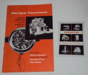 Vintage Dormeyer Deep-Fry Cooker Instructions/Recipes