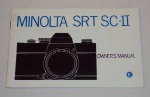 Minolta SRT SC-II SLR Film Camera Owner�s Manual � 1975