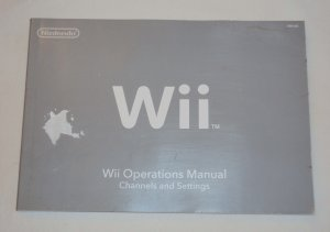 Nintendo Wii Operations Manual