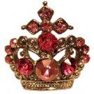 Tiara Ring with Pink Jewels