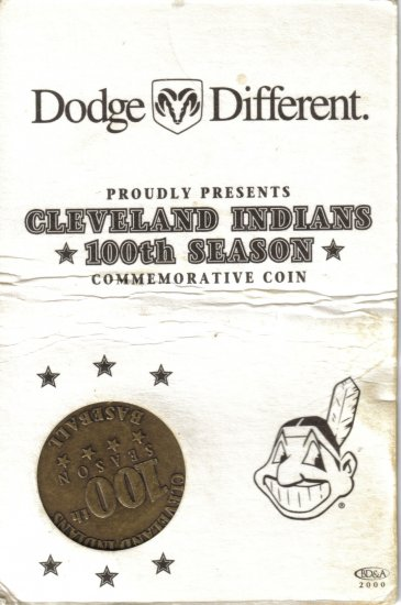 Cleveland Indians 100th Season Commemorative Coin