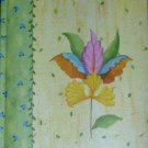 Yellow Padded Flower Garden Journal Lined for Writing