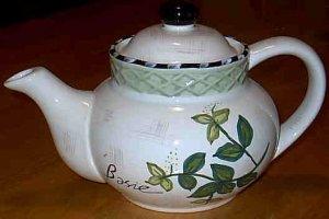 Herb Garden Tea Pot