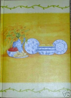 Yellow Padded Kitchen Cook Journal Lined for Writing