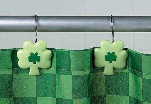 Shamrock Shower Curtain Hooks