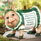 St. Patty Piggy Irish Blessing Garden Statue