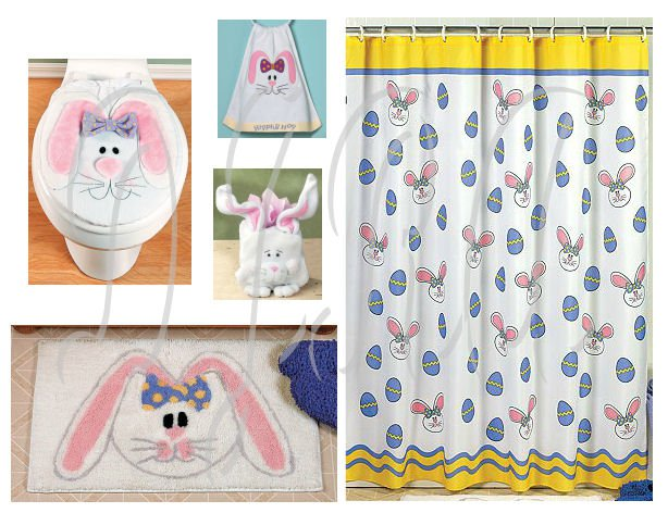 Incroyable Easter Bunny Bathroom Set