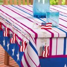 American Flag Holiday Tablecloth Clips