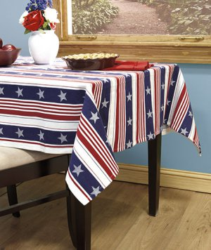 "Americana Tablecloth 60"" x 84"""