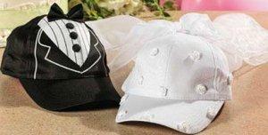 Bride and Groom Baseball Caps