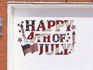 Happy 4th Of July Garage Door Magnet Set