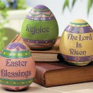 Set of 3 Inspirational Easter Eggs