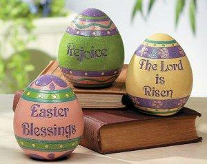 Set of 3 Inspirational Easter Eggs