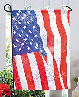Red, White & Blue Garden Flag