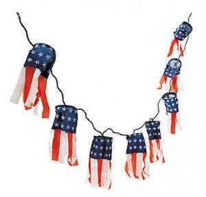 Patriotic Lighted Windsocks