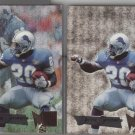 Barry Sanders (2 card lot) 95 Fleer Metal and Silver Flasher