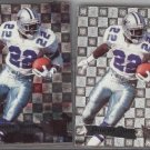 Emmitt Smith 95 Fleer Metal plus Silver Flasher