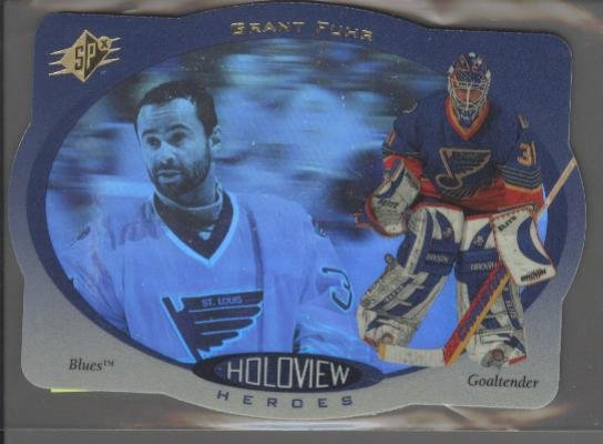 Grant Fuhr '96-'97 SPx Holoview Heroes Card