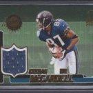 Keenan McCardell '00 OMEGA Game Worn Jersey Card