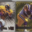 Jerome Bettis 95 Fleer Metal Silver Flasher and GOLD BLASTER