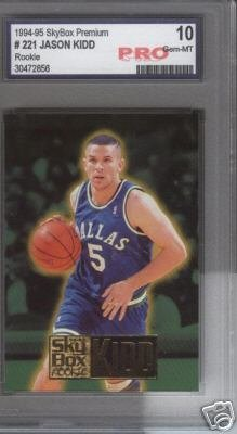 Jason Kidd Skybox ROOKIE PRO Graded 10 GEM MINT