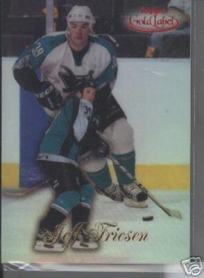 Jeff Friesen '99 Topps Gold Label Class 1 RED #d 98/100