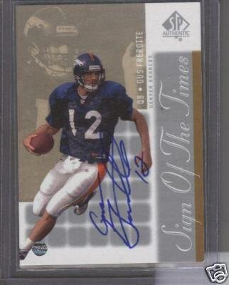 Gus Frerotte '00 UD SP Sign of the Times Autograph