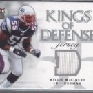 Willie McGinest '06 Fleer Ultra Kings of Defense Jersey