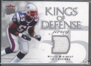 Willie McGinest '06 Fleer Ultra Kings of Defense Jersey