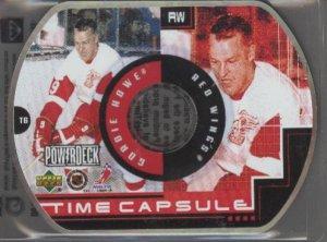Gordie Howe 99-00 UD PowerDeck Time Capsule Disk