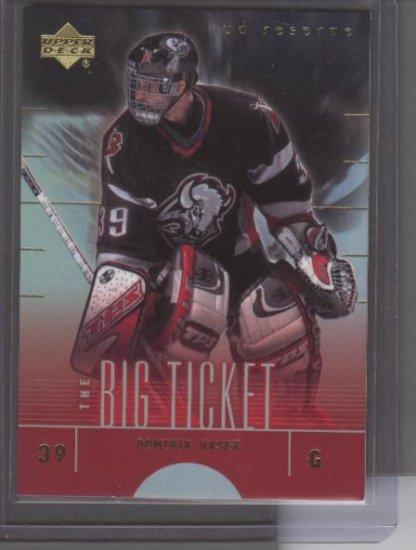 Dominik Hasek 01 UD Reserve Big Ticket Card
