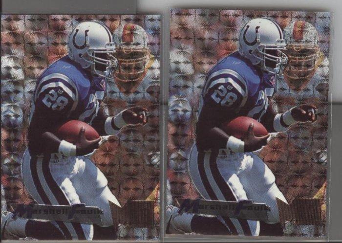 Marshall Faulk (2 cards) 95 Fleer Metal