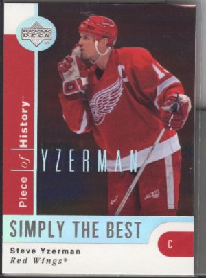 Steve Yzerman UD Piece of History 'Simply the Best'