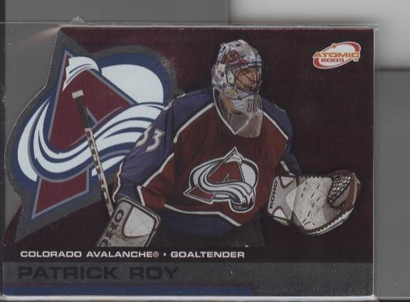Patrick Roy '03 ATOMIC card
