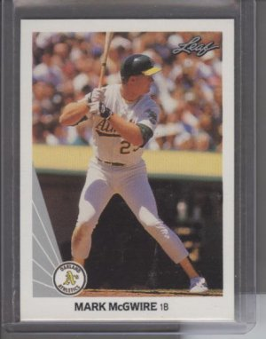 Mark McGwire 1990 Leaf Card