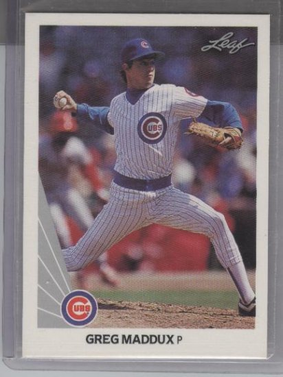 Greg Maddux 1990 Leaf Card