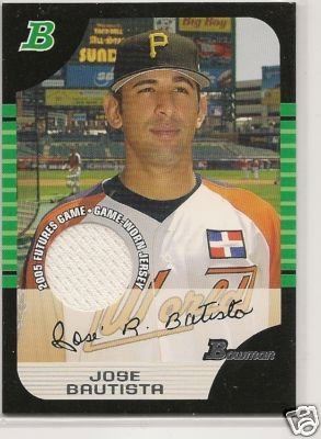 Jose Bautista '05 Bowman Draft Futures GameJerseyRelics