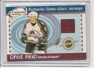Dave Reid '02 Atomic Game-Worn Jersey Card
