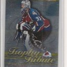 '01 Topps Premier Plus Patrick Roy Trophy Tribute Card