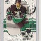 Zenon Konopka '06 SP Authentic ROOKIE Card #d