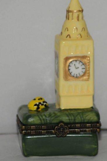 Big Ben Ring Holder Ceramic Hinged Trinket Box Keepsake