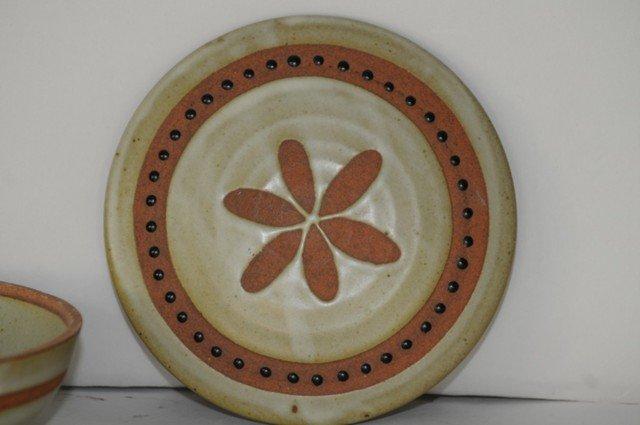 Pier One Bowl with Lid - Flower Stoneware - Trinket - Cat - Dog Bowl