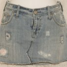American Eagle Distressed Jean Denim Mini Skirt size 4