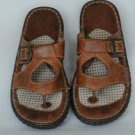 Born Womens Open Toe Brown Leather Sandal 7/38 MW EC