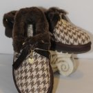 Skechers Brown Faux Fur  Herringbone Slippers Size 10 New