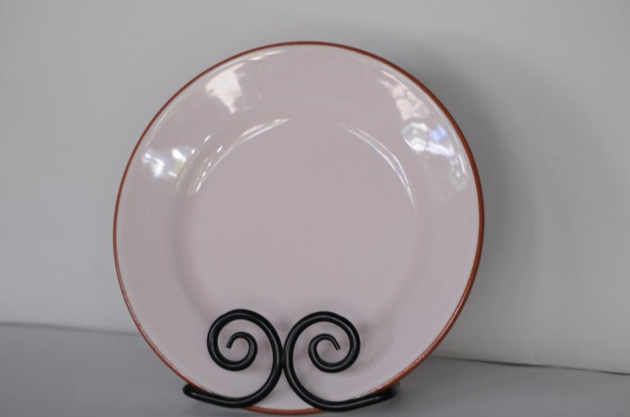 Val Do Sol Portugaul Pink Glaze Terracotta Salad Plate