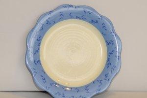 """Pfaltzgraff Salad Plate """"Summer Breeze"""" Scallop Blue Leaf"""