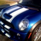 "Mini Cooper 10"" Rally Racing Stripes Stripe Decals S decal"