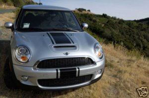 Mini Cooper Center racing rally stripe stripes decals decal