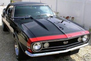 Early Chevy Chevrolet Camaro Nose Stripe Stripes Decals decal